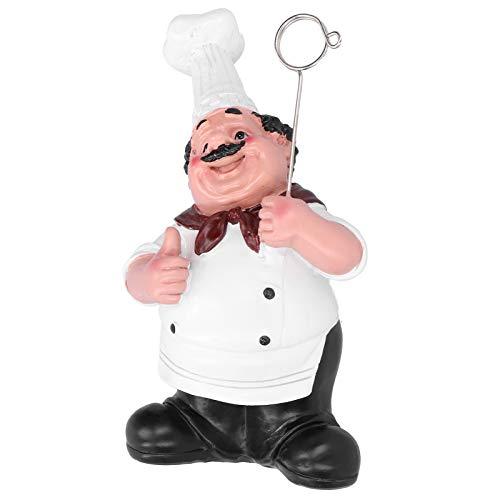 Kadimendium Portatarjetas de Alta Seguridad para Figuras de Chef, portatarjetas, exquisitos Adornos de Resina de Chef, Adornos Forma Linda de Chef, para decoración con ampliamente
