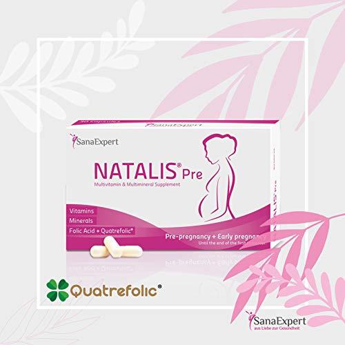 Premium Prenatal Multivitamin, SanaExpert Natalis Pre, Folic Acid, Vitamins, Minerals, Supplement, 30 Capsules *Made in Germany - Now in The US*