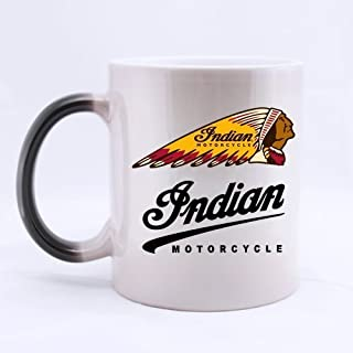 indian motorcycles logo Custom Morphing Mug Coffee Cup