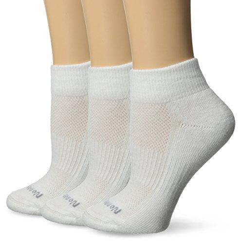 No Nonsense Women's Soft & Breathable Cushioned Quarter Top Sock, White, 4-10