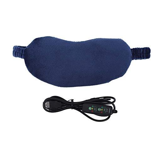 Ferninfrarot Hot Compress Augenmaske Fatigue Relief Einstellbare elektrische Heizung Augenklappe Fatigue Relief Ultimative Schlafhilfe (USB-Stecker)(Blau)