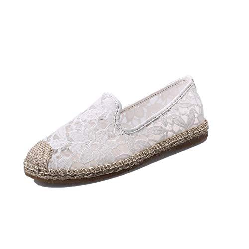 Femmes Chaussures De Loisirs,Femmes Dentelle Chaussures De Sport Fond Plat Souliers Maille Respirant Chaussures Simples Printemps Et Été PANPANY