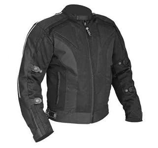 Bikers Gear Australia Chicane - Chaqueta de cordura ligera y robusta con protecciones extraíbles, Negro, Large
