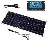 J & J Cargador de batería del Panel Solar 100W 18V Dual USB 30 + regulador Solar PWM para el Barco hogar del Coche Que acampa yendo 30A