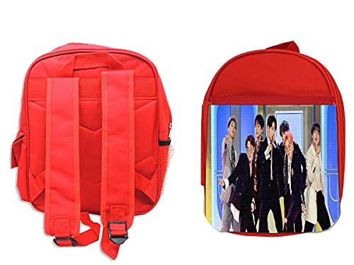 MOCHILA ROJA MUSIC AWARDS BTS GRUPO KPOP backpack rucksak