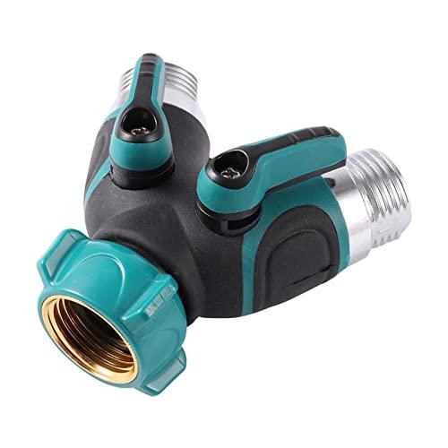 NNMB Duradera Riego 3/4'Splitter 2-Way Splitter Agricultura Accesorios de Tanque de Agua en Forma de Y Conector de Manguera de Hilo estándar 1 PC Fácil de Usar y portátil