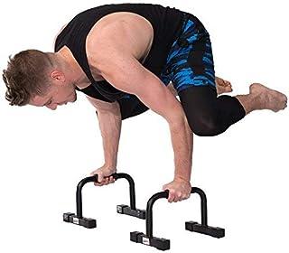 "Juperbsky Push Up Stands Bars Parallettes Set for Workout Exercise, 12"" x 7""x 5.5"" Black"