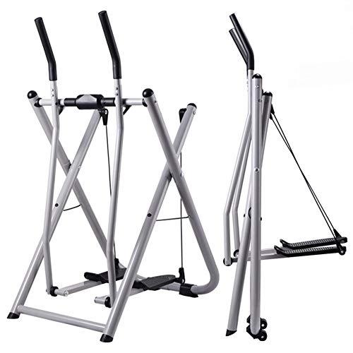 GWSPORT Bicicleta Elíptica Plegable, Manguera De Aire Walker Steppers Gimnasio En Casa Máquina De Ejercicio Elíptica Pasamanos Entrenador De Adelgazamiento Equipos De Fitness