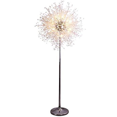 Lamparas de pie Nordic Modern Luxury Crystal Ball Fireworks Stars Sala de estar Dormitorio Lámpara de pie, Personalidad creativa Belleza Tienda Ventana Luz Vertical Luces de fondo Lámpara de piso