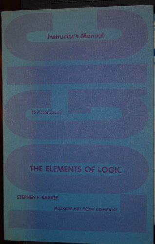 Instructor's manual to accompany, The elements of logic