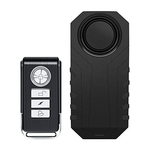 IWILCS Fahrrad Alarm, Fahrrad Alarmanlage, Wireless Anti-Diebstahl Fernbedienung Alarmanlage Alarm, Wasserdicht Diebstahlsichere Vibration zubehör für e Scooter/ebike/Tür- und Fenstersicherheit