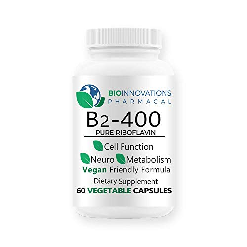 Bio-Innovations Vitamin B2 Riboflavin 400 mg, 60 Vegetable Capsules