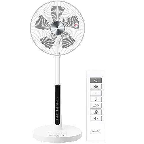 [山善] 扇風機 30cm リビング扇 マイコンスイッチ 風量4段階調節 静音モード DCモーター搭載 入切タイマー機能 リモコン付き ホワイト YHX-GGD30(W) [メーカー保証1年]
