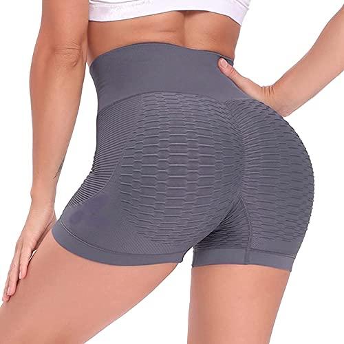 Leggins Mujer de Yoga Pantalones Cortos Mujer Deportivos de Color Liso Shorts Mujer Deporte Cintura Alta Pantalón Corto Mujer Absorbentes y Transpirables Leggings Ideal para Fitness Correr Pil