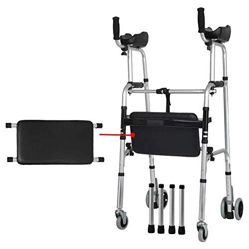 LXYZ Andador para Andador con Soporte para antebrazo, Plegable, Ligero, con Asiento/reposabrazos y Patas de esquí de 2 Ruedas