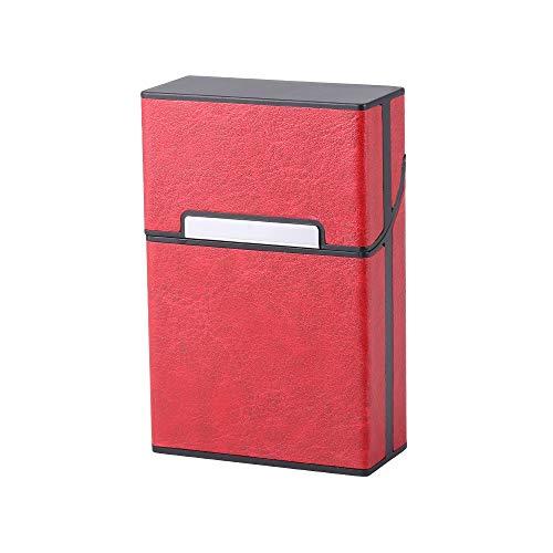 JSW シガレットケース 20本収納 タバコケース ポータブル ポケット たばこケース PU革 磁気蓋 携帯に便利です ストレス耐性 ファッション紳士 高級感 シガレット保護カバー 4色 男女兼用