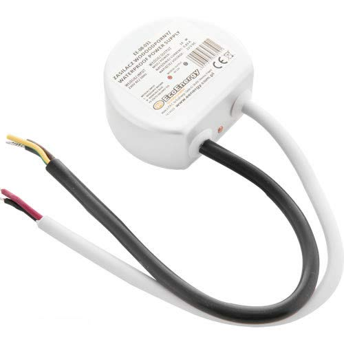 LED Trafo rund Rundnetzteil 12V/DC 10W 15W Wasserfest IP67 Unterputzdose (15W)