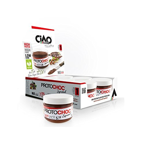 Pack de 6 Cremas de Chocolate CiaoCarb Protochoc Fase 1 Chocolate