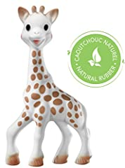 Sophie la giraffe, the most beloved teether for over 55 years Made of 100% natural rubber from the Hevea tree On each box, there is a QR code to authenticate your Sophie. Inside each box, you'll get: the Sophie story, and a booklet to discover more p...