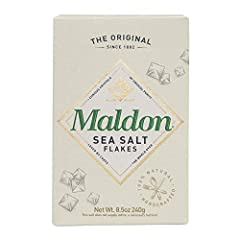 Contains - 1 - 85 Ounce Box of Maldon Sea Salt Flakes Our soft crunchy sea salt flakes have a fresh intensity and clean taste containing the perfect balance of natural minerals to enhance any dish Maldon salt is a prestigious and unique product known...