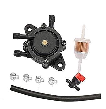 HQparts Fuel Pump & Fuel Filter Compatible with 198756 Bobcat 225 250 275 302 Miller Welder Kohler Onan Generator