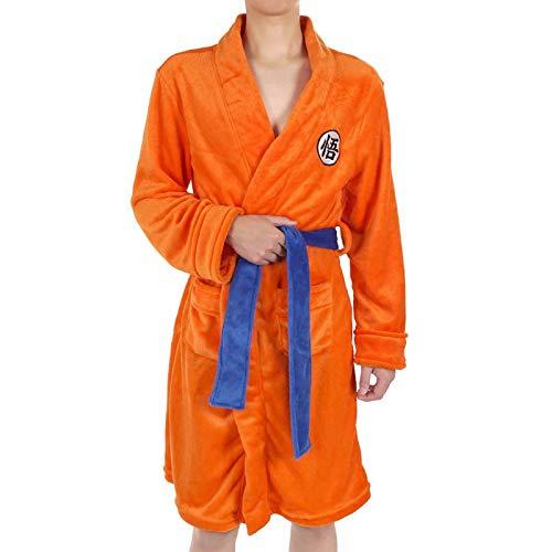JINGHE Dragon Ball Cosplay Son Goku Albornoz De Disfraz, Unisex Anime Super Soft Premium Bata De Dormir Con Cuello Chal, Ropa De Dormir Con Cuello Chal Para Mujeres, Hombres, Niños Y Niñas