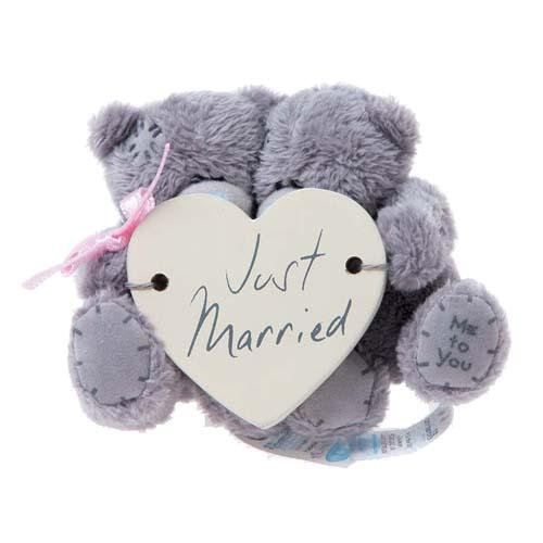 7,6 cm Ours Me to You Just Married avec fenêtre ventouse