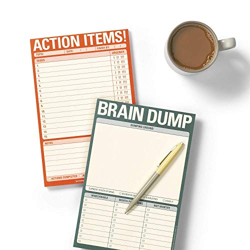 Knock Knock Brain Dump Note Pad, 6 x 9-inches Photo #2