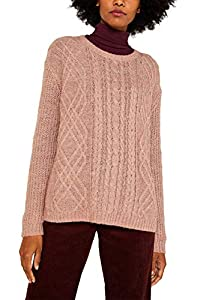 ESPRIT Damen 119EE1I026 Pullover, Violett (Mauve 5 554), Medium (Herstellergröße: M)