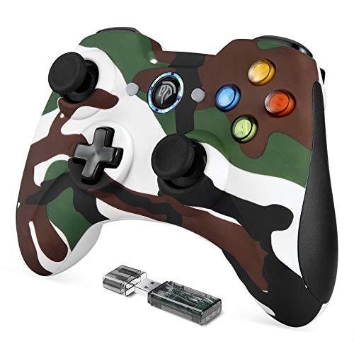 EasySMX Gamepad / PS3, kabellos, 2,4 G, wiederaufladbar, mit doppelter Vibration, 8 Stunden Akkulaufzeit, für PC PS3, Grün
