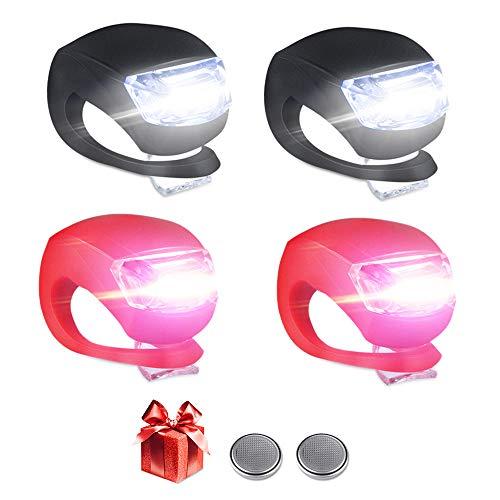 4 Stück Kinderwagen Licht Vivibel LED Lampe Licht Sicherheitslicht Silikon Leuchte Kinderwagen Blinklicht Taschenlampe für alle Kinderwagen Bergsteiger Kinderwagen-Zubehör-1