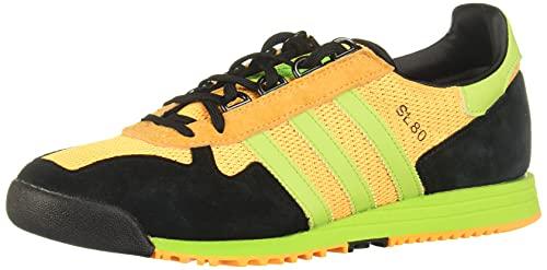 adidas Originals SL 80, Solar Gold-Semi Solar Slime-Core Black, 9