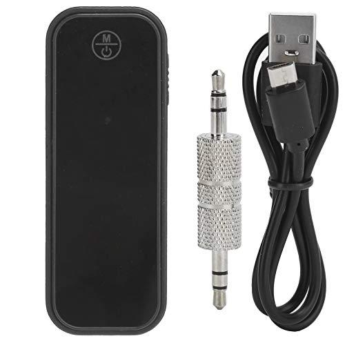 ASHATA Adaptador Bluetooth para automóvil, Transmisor Receptor Bluetooth 5.0, Mini Adaptador de Audio inalámbrico 2 en 1 3.5MM Aux, Calidad de Sonido sin pérdidas Adaptador
