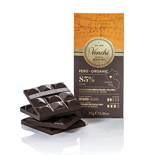 Venchi Tavoletta Astucciata di Cioccolato Fondente Perù Bio 85% 70g