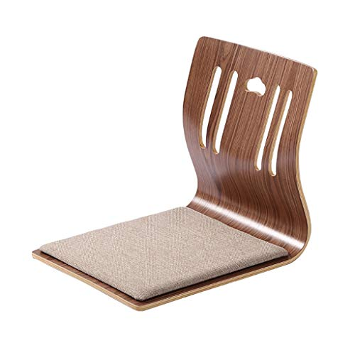 Xwz94 Opvouwbare Japanse legless stoel Vloerstoel Massief houten kruk Rugleunstoel Lage tafel en stoel Bay raamstoel Chaise longue Lounge stoel bureaustoel