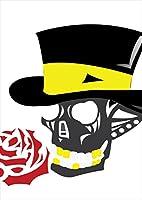 igsticker ポスター ウォールステッカー シール式ステッカー 飾り 1030×1456㎜ B0 写真 フォト 壁 インテリア おしゃれ 剥がせる wall sticker poster 006941 ユニーク ドクロ 骸骨 薔薇