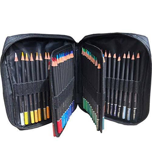 Kit de lápices de colores para dibujo, 72 piezas de lápiz HB de madera natural con bolsa de nailon con cremallera para artistas que pintan herramientas para adultos pintadas a mano