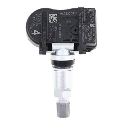 Monitor de presión de neumáticos 4PCS presión de neumático sensor for NOTA QASHQAI TIIDA Hatchback X-T Renault ESPACE V KOLEOS 40700-3VU0A 407003VU0A Monitoreo de presión de neumáticos