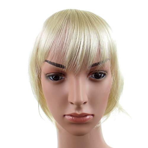 420 VANESSA GREY Toutes les couleurs disponibles, Pince Cheveux Super Frange Vraiment Naturelle Blond TrÈs Clair