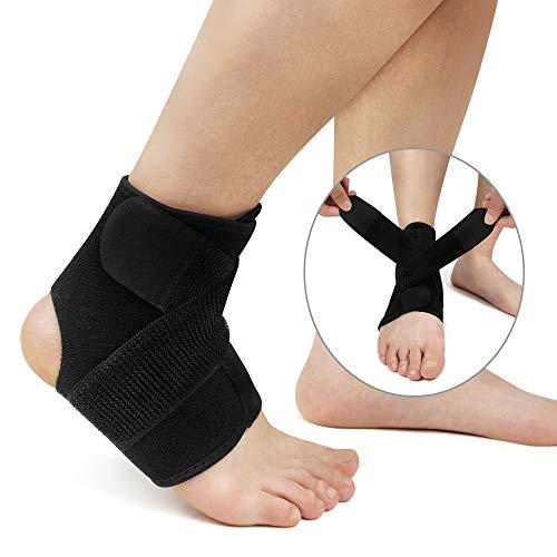 Hually Knöchelbandage Verstärkung Fußbandage für Damen und Herren, Linke und rechte Füße, Unterstützt alle Größen, Knöchelbandage stützt den Fuß beim Sport wie Handball, Fußball, Volleyball
