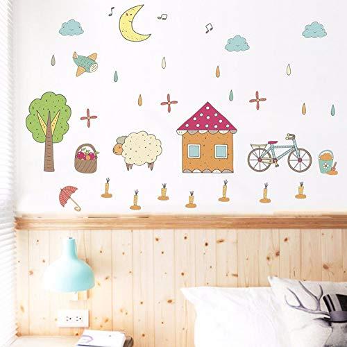 Zyzdsd Cartoon Manor Farm Wandaufkleber Wohnzimmer Schlafzimmer Kinderzimmer Wandgestaltung Umweltfreundliche Kunst Wandtattoos Wallposter Poster