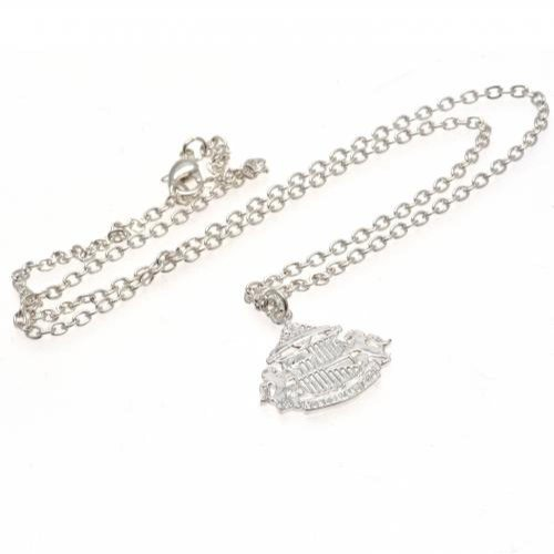Sunderland AFC Official Football Gift Silver Plated Pendant & Chain - A Great Christmas / Birthday Gift Idea For Men And Boys