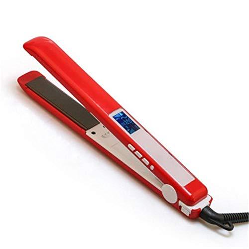 Lisseur Cheveux - 2 in 1 Céramique, Cheveux Bouclés, Fer plat professionnel, numérique résistant aux hautes températures - cheveux raides, bâtonnet rouge