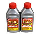 Motul MTL100949 8068HL RBF 600 Factory Line Dot-4 100 Percent Synthetic Racing Brake Fluid-500, 300. ml, 2 Pack