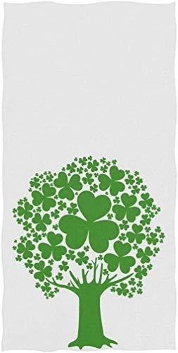 OMAJIG Chic St. Patrick's Day - Juego de toallas de mano (38 x 76 cm), diseño de trébol verde