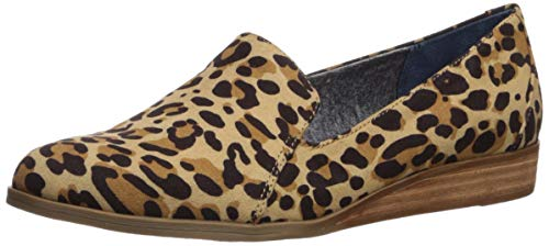 Dr. Scholl's Shoes womens Dawned Loafer Flat, Tan/Black Leopard Microfiber, 9 US
