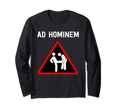 Ad Hominem Logischer Fehlschluss - Design für Philosophen Langarmshirt