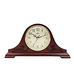 HONGGE Mantel Clocks,Retro Solid Grandfather Clock Living Room Bedroom Solid Wood Grandfather Clock Decoration 37×19×8.5cm