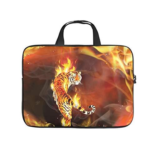 Fire Tiger Animal Laptop Bag Wear-Resistant Notebook Sleeve Notebook Bag for University Work Business