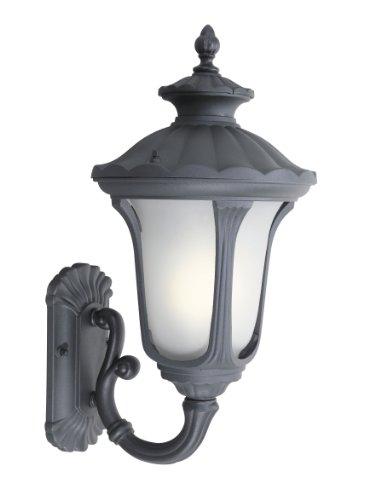 Woodbridge Lighting 61022WL-BKP Outdoor Light, Medium, Powder Coat Black